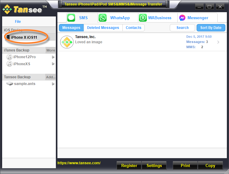 iPhone/iPad/iPod Transfer SMS & MMS & iMessage
